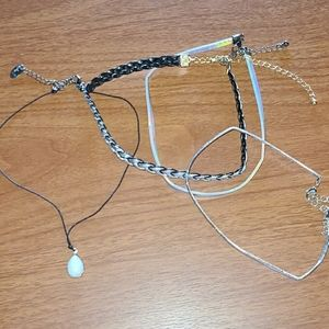 Pack of four chokers